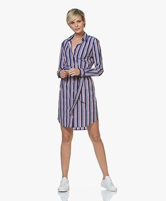Josephine & Co Ryan Gestreepte Travel Jersey Jurk - Royal Blue