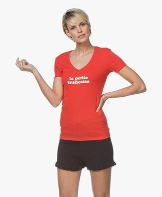 La Petite Française Thibault Logo T-Shirt - Red