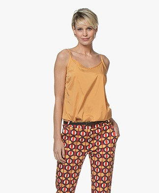 Woman by Earn Ada Satijnen Spaghetti Top - Burnt Orange