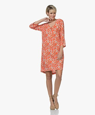 MKT Studio Roupel Ruffle Sleeve Dress - Vermillon