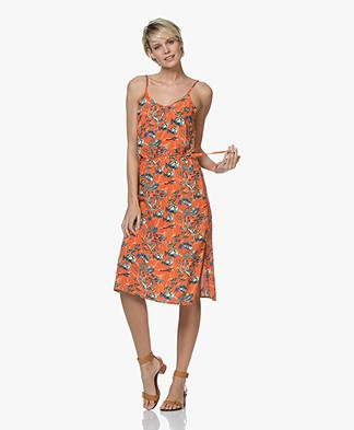 Marie Sixtine Mallory Viscose Dress with Print - Sea