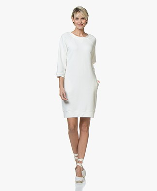 no man's land Sweater Dress with Cropped Sleeves - Ivory