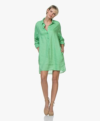 Repeat Pure Linen Tunic Dress - Grass