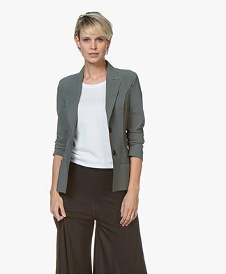 Woman By Earn Juul Bonded Travel Jersey Blazer - Vergrijsd Groen