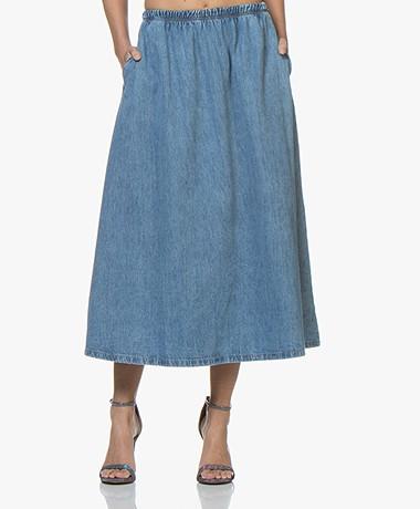 Denim Line Skirt American Winiboo Blue Vintage A kTwPXZulOi