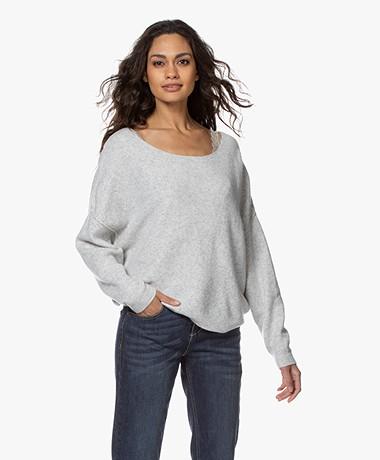 American Vintage Damsville Boat Neck Sweater - Grey Melange