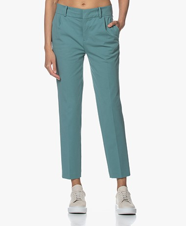 Drykorn Job Ponte Jersey Pantalon - Vergrijsd Blauw
