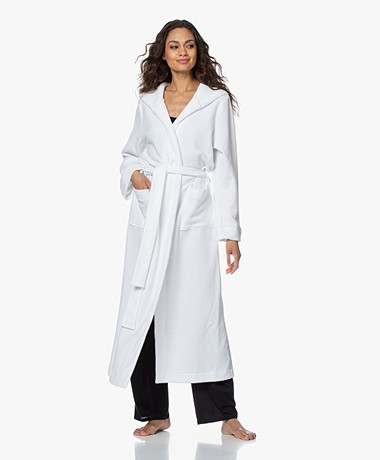 HANRO Robe Selection Ankle-length Hooded Robe - White