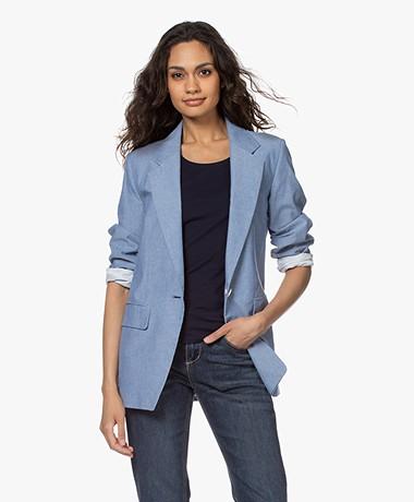 Drykorn Gadsden Cotton Blazer - Light Blue