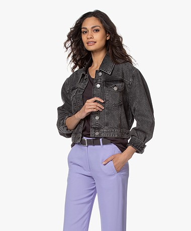 ba&sh Dilan Cropped Denim Jack - Grijs