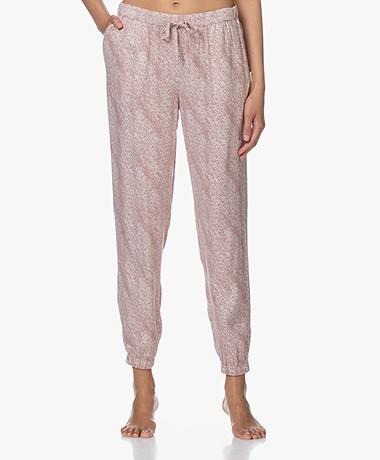 Calvin Klein Viscose Pyjamabroek met Print - Roze