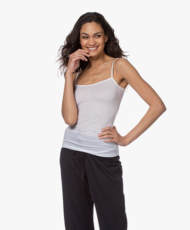 HANRO Ultralight Cotton Basic Top - White