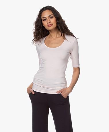 Majestic Filatures Soft Touch Ronde Hals T-shirt - Pétale