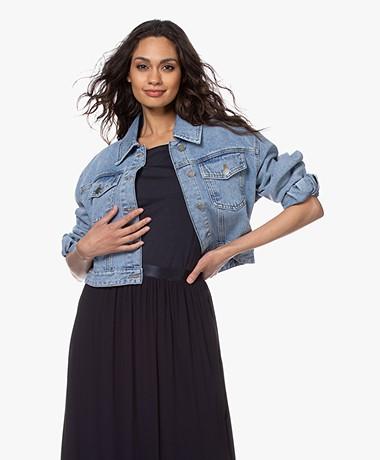 ba&sh Dilan Cropped Denim Jack - Blue Jeans