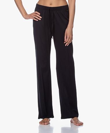 HANRO Cotton Deluxe Jersey Pajama Pants - Black