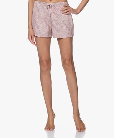 Calvin Klein Viscose Pyjama Short met Print - Roze