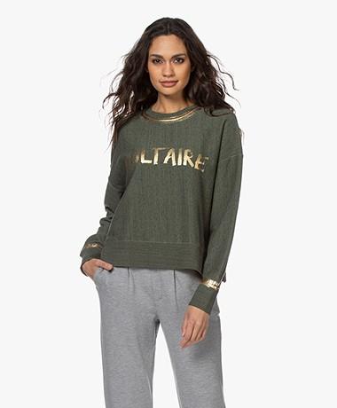 Zadig & Voltaire Champ Voltaire Foil Sweater - Kaki