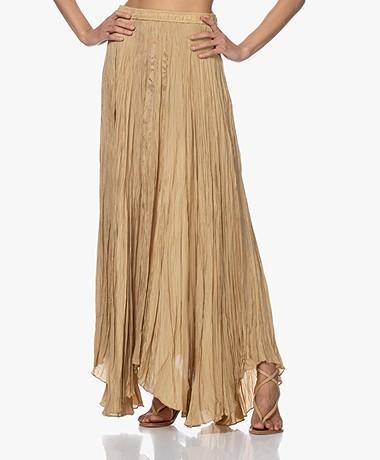 Joseph Nanco Habotai Silk Crinkle Maxi Skirt - Chai