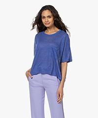 Pomandère Oversized Linnen T-shirt - Lavendel