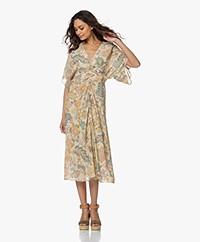 Vanessa Bruno Ness Viscose Crepe Dress - Cream/Multi-color