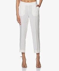 MKT Studio Pizaro Tencel-Linen Pants - Cream