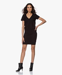 James Perse Jersey V-neck T-shirt Dress - Black