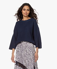 by-bar Mayke Boxy Wide Sleeve Sweater - Indigo