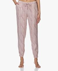 Calvin Klein Viscose Pajama Pants with Print - Pink