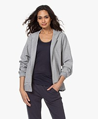 Filippa K Soft Sport Zip Hoodie Sweat Cardigan - Light Grey