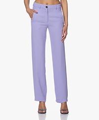American Vintage Babarum Cupro Pantalon - Parme Vintage