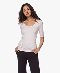Majestic Filatures Soft Touch Round Neck T-shirt - Pétale