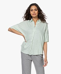 Majestic Filatures Linen Jersey Polo Shirt - Lichen