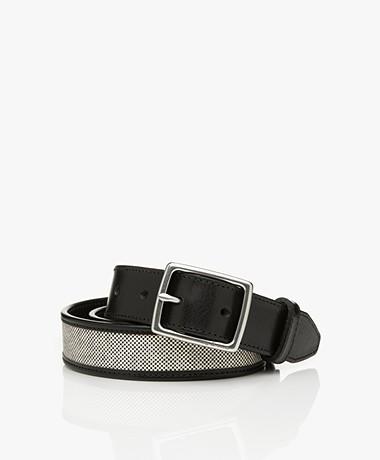 Rag & Bone Boyfriend Leather Belt - Black