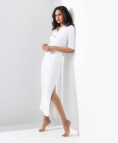 Joseph Rib Knitted Polo T-shirt - Off-white