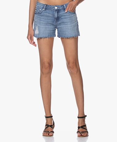 Denham Monroe Destroyed Denim Short - Blauw