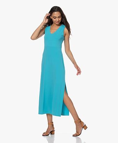 no man's land Crepe Jersey Maxi Dress - Lagoon