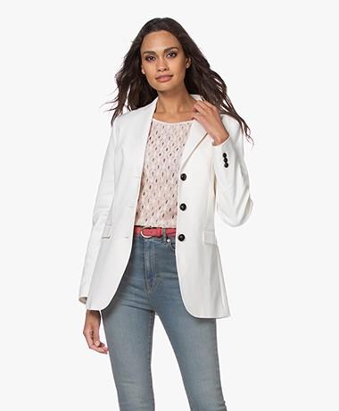 Repeat Stretch-cotton Tailored Blazer - Cream