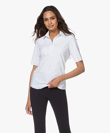JapanTKY Hyn Travel Jersey Polo T-shirt - White