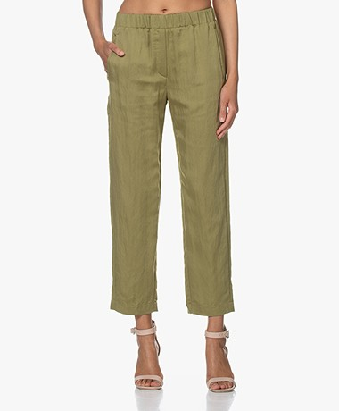 forte_forte Washed Satin Pull-on Pants - Aloe