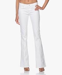 Denham Farrah Super Flare Fit Jeans - White