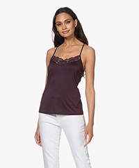 HANRO Zula Viscose Jersey Spaghetti Top - Purple Night