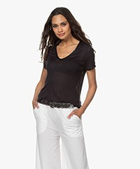 Zadig & Voltaire Kayak Tino Foil Modal T-shirt - Black