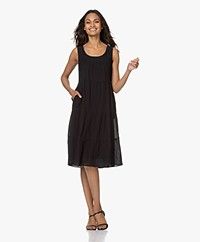 indi & cold Voile Tiered Dress - Black