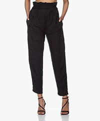 IRO Dolci Tencel High-waist Cargo Pants - Black