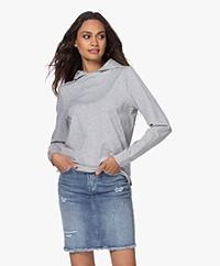 Drykorn Papilia Lyocell Jersey Hooded Sweatshirt - Grey