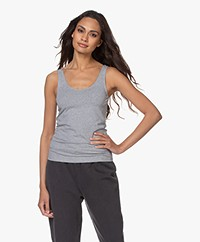 Filippa K Cotton Stretch Tank Top - Grey Melange