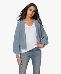 by-bar Bar Short Cotton Rib Cardigan - Cloud