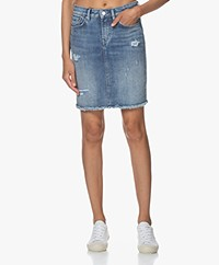 Denham Monroe Calirip Denim Skirt - Blue