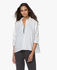 BY-BAR Norel Cotton Oversized Blouse - White