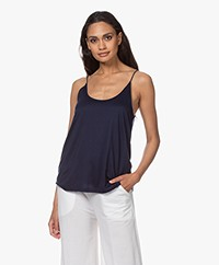 Drykorn Arani Double-layered Lyocell Jersey Top - Dark Blue